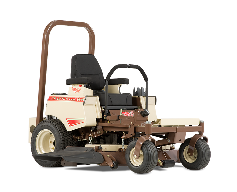 724 cc Commercial Turf Series V-Twin engine 41- (104.1 cm) or 48-inch (121.9 cm) side discharge decks convert to optional mulching or vacuum collection