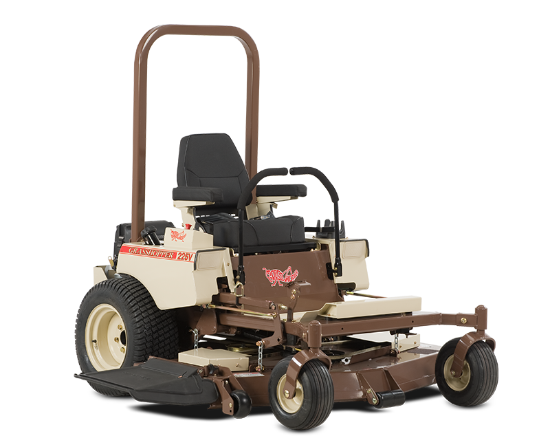 Commercial-grade pump and wheel motor drive systems help our Model 225V deliver smooth response, durability and low maintenance, all in one compact package that easily transports on trailers or fits into shops or garages with limited space. - See more at: http://www.grasshoppermower.com/mowers/MidMount/225V/#sthash.CMlUxUcX.dpuf