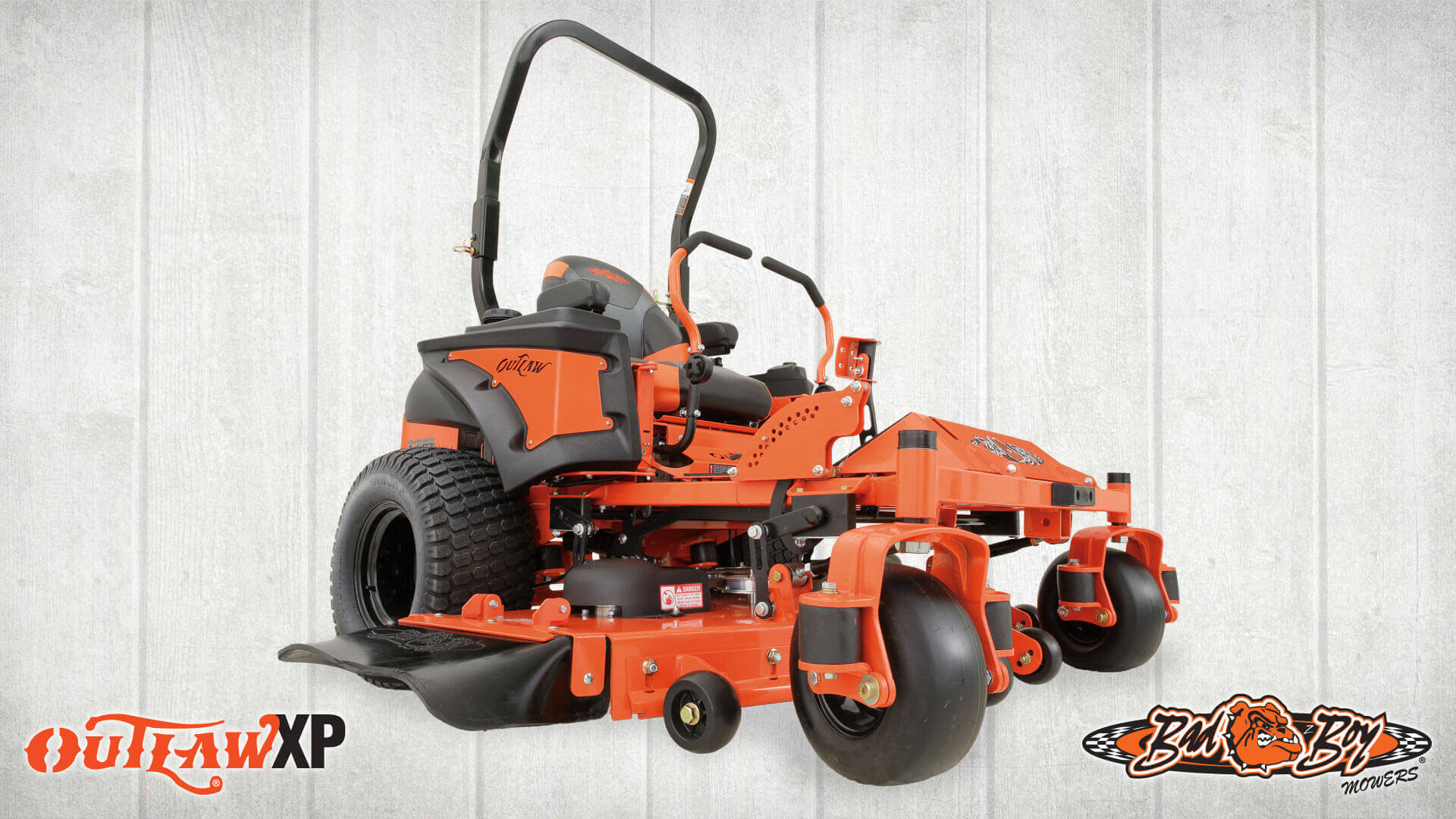 We've thrown everything you've ever asked for into the industry-leading Outlaw XP, along with several innovations that didn't even exist on zero-turn mowers until now.